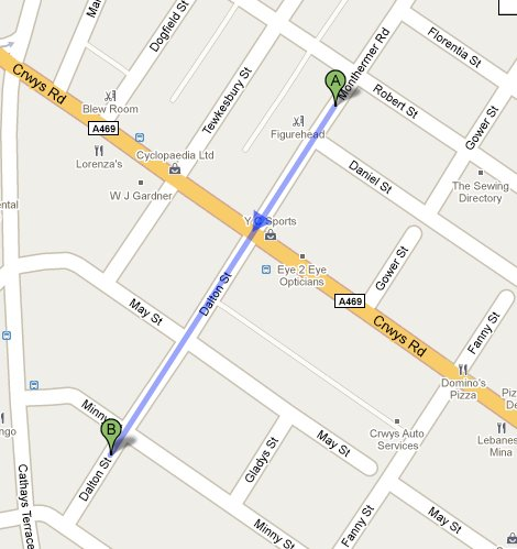 Directions to Dalton Street