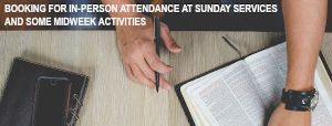 Booking for in-person attendance at services