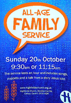 All-age family service 20th October 2019