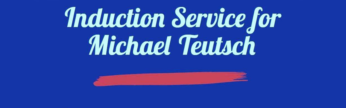 Induction Service for Michael Teutsch